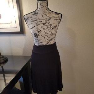 🍇 Black cotton skirt